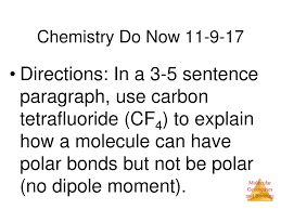 Chemistry Do Now Directions In A 3 5 Sentence Paragraph