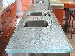 recycled glass kitchen countertops cost
