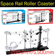 spacerails space rail mini marble roller coaster with steel level 1 2 game 5 000mm 5 500mm diy educational kit puzzle toys whole spacerails space