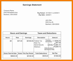 Statement Of Earnings Template 6 Earning Statement Template Dragon Fire Defense