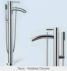 taron floor mounted bathroom faucet polished chrome