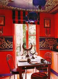 red dining room decor bright moroccan dining room decoration with red wall paint red blue st