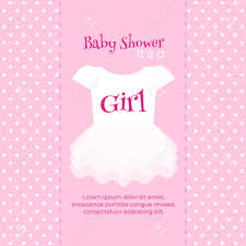 baby girl invite baby girl shower invitation card pink template
