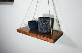 hanging rope shelf shelves diy