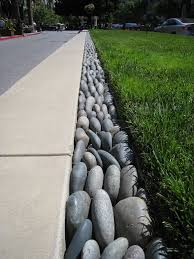 garden edging with stones