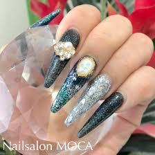 ラメホイルネイルロングスカルプ Nail Salon Moca伊勢市ネイルサロン