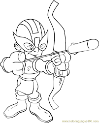 Small Picture Hawkeye Coloring Page Free The Super Hero Squad Show Coloring
