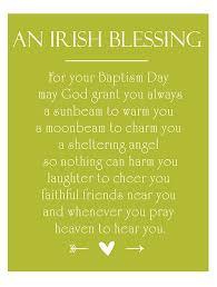 irish christening blessing