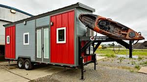 Small House On Wheels Tiny House On Wheels Gooseneck Trailer Custom Kayak Rack Warm