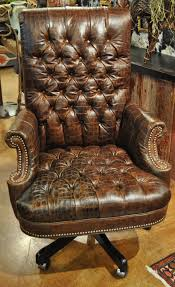 excelent brown leather tufted chair ture inspirations ott office embossed croc executive full size upholstered bar alera veon series executive high back