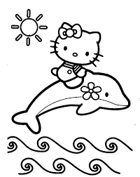 Small Picture Dolphin coloring pages and hello kitty ColoringStar