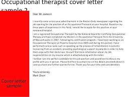 Example Occupational Therapist Resume Sample For And Cover Letter ...