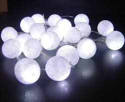 ball fairy lights. white battery powered led cotton ball fairy light string 3m (10 feet) long lights t
