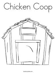 Small Picture Chicken Coop Coloring Page Twisty Noodle