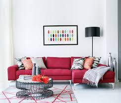 Living Room Red Sofa