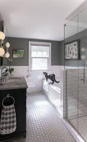 Tiles : Herringbone White Subway Tile With Carrara Marble ...