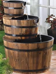barrel garden. Solar Powered Edinburgh Wooden Barrel Garden Water Feature