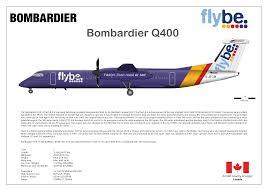 De Havilland Dash 8 400 Seating Chart Bombardier Q400 Of Flybe Print