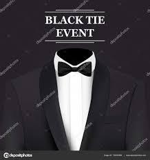 Black Tie Event Invitation Card Stock Vector Warlockf01094047