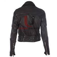 ali larter prorsum quilted black biker fit leather jacket