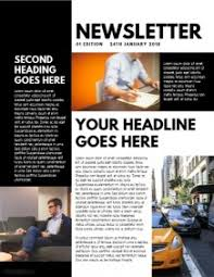 Newspaper Template No Download Design A Newsletter Free Templates Postermywall