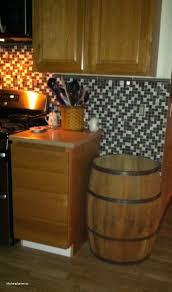 elegant trash can. Fine Elegant Whiskey Barrel Kitchen Trash Can Elegant Trash Can Kitchen And I