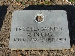 Priscilla Barnett Weinberg (1868-1959) - Find A Grave Memorial