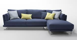 modern dark blue fabric sectional sofa