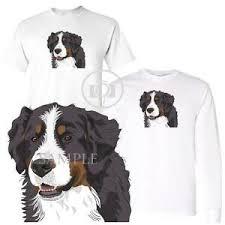 Details About Bernese Mountain Dog Facial Profile Art Short Long Sleeve White T Shirt
