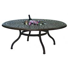 Ice Bucket Table Darlee Series 60 52 Inch Cast Aluminum Patio Chat Table With Ice