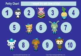 Potty Training Charts So Cute Spiderman Octonauts
