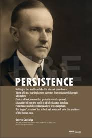 Calvin Coolidge Quotes Persistence Classy Persistence Calvin Coolidge