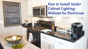How To Install Under Cabinet Lighting Without An Electrician Youtube