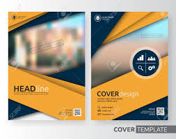 abstract cover design suitable for flyer brochure book cover and annual report yellow