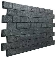 slate subway tile brick wall panel charcoal faux panels metroliner white traditional
