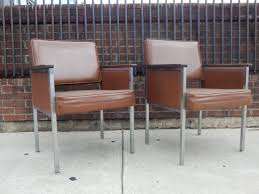 vintage furniture manufacturers. pair of vintage mid century office chairs in brown by all steel furniture chennai manufacturers d