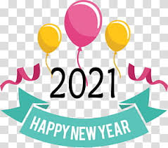 Happy new year 2021 golden particles bokeh black background new year resolution concept. Happy New Year 2021 Transparent Background Png Cliparts Free Download Hiclipart