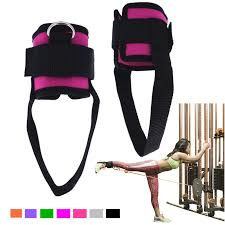 1 Pair <b>Fitness</b> Exercise <b>Resistance</b> Band <b>Ankle Straps</b> Cuff for <b>Cable</b> ...