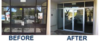 new front glass installation before and after