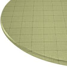 woven lattice elasticized table cover 344556