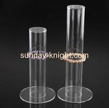 Lucite Stands For Display Customized Acrylic Cylinder Display Modern Jewelry Display Lucite 77