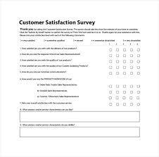 Customer Service Questionnaire Template Word Survey Proper Format