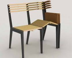 I love the idea of turning chairs into benches, and have done so once  before, but it was not nearly as well engineered as this- not to mention-  collapsible?
