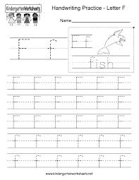 letter f writing practice worksheet printable