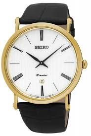 seiko premier collection steel leather mens watch skp396p skp396p1 star