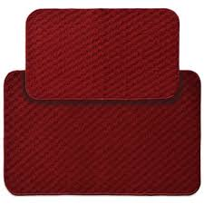 red kitchen rugs. Garland Town Square 2-Piece Rectangle Kitchen Rug Set In Red Rugs E
