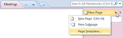 Onenote 2010 Templates Default Template For Outlook Items Sent To Onenote Msoutlook Info