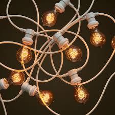 commercial white festoon lighting round edison light globes