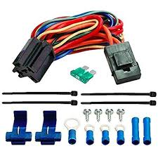 amazon com american volt electric fan wire harness kit dual 12v amazon com american volt electric fan wire harness kit dual 12v radiator fans wiring 5 pin relay socket toys games