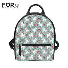 <b>FORUDESIGNS</b> Small <b>Women</b> Backpack Cute Bichon Frise <b>Flower</b> ...
